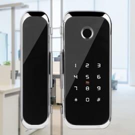 Электронные замки для стеклянных и профильных дверей